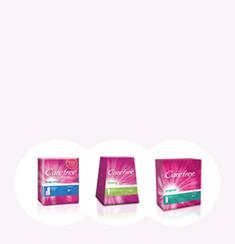 Slika različitih proizvoda CAREFREE® linije.