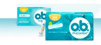 Slika različitih proizvoda o.b.® linije tampona: o.b.® Original i o.b.® ProComfort™